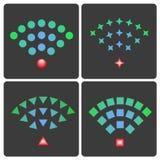 Sistema de iconos de la radio y del wifi del vector Foto de archivo
