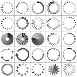 Sistema de iconos de la situación del cargamento fotografía de archivo