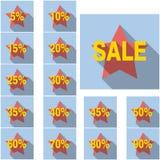 Sistema de iconos de la venta. stock de ilustración