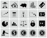 Sistema de iconos de las finanzas Fotografía de archivo