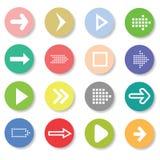 Sistema de iconos de las flechas Foto de archivo