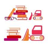 Sistema de iconos de libros Imágenes de archivo libres de regalías