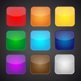 Sistema de iconos de los apps del color - fondo Foto de archivo libre de regalías