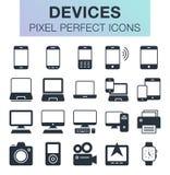 Sistema de iconos de los devides Foto de archivo libre de regalías