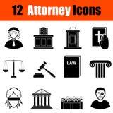 Sistema de iconos del abogado Imágenes de archivo libres de regalías