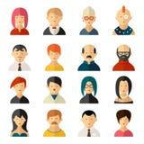 Sistema de iconos del avatar de la interfaz de usuario del vector Imagen de archivo libre de regalías
