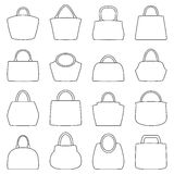 Sistema de iconos del bolso, ejemplo libre illustration