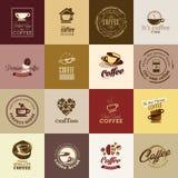 Sistema de iconos del café stock de ilustración
