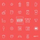 Sistema de iconos del café - ejemplo del vector Imagenes de archivo