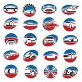 Sistema de iconos del coche Imagen de archivo