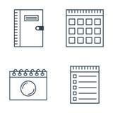 Sistema de iconos del cuaderno Foto de archivo