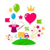 Sistema de iconos del día de fiesta Fotografía de archivo libre de regalías