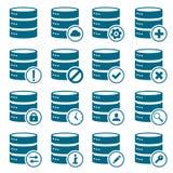 Sistema de iconos del DB Imágenes de archivo libres de regalías