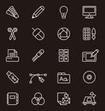 Sistema de iconos del diseño gráfico Fotos de archivo libres de regalías