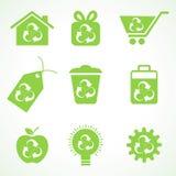 Sistema de iconos del eco Fotografía de archivo