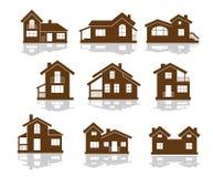 Sistema de iconos del edificio de apartamentos