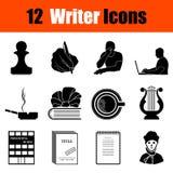 Sistema de iconos del escritor Foto de archivo libre de regalías