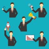Sistema de iconos del hombre de negocios Ilustración del vector Imagen de archivo libre de regalías