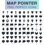 Sistema de iconos del indicador del mapa Fotos de archivo libres de regalías