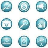 Sistema de iconos del márketing Stock de ilustración
