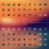 Sistema de iconos del mar Imagenes de archivo