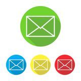 Sistema de iconos del mensaje stock de ilustración