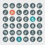 Sistema de iconos del negocio libre illustration