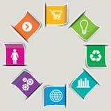 Sistema de iconos del negocio Foto de archivo