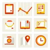 Sistema de iconos del negocio Imagenes de archivo