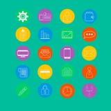 Sistema de iconos del negocio Fotos de archivo libres de regalías