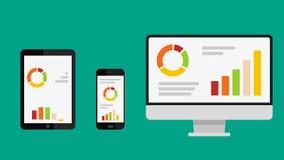 Sistema de iconos del negocio con infographics con el canal alfa stock de ilustración