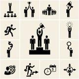 Sistema de iconos del negocio y de la carrera del vector Fotografía de archivo