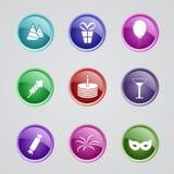 Sistema de iconos del partido libre illustration