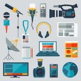 Sistema de iconos del periodismo Fotos de archivo libres de regalías