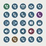 Sistema de iconos del teléfono Imágenes de archivo libres de regalías