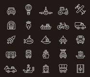 Sistema de iconos del transporte libre illustration