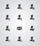 Sistema de iconos del usuario del vector Foto de archivo
