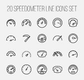Sistema de iconos del velocímetro stock de ilustración