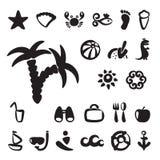 Sistema de iconos del verano Imagenes de archivo