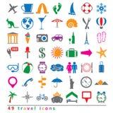 Sistema de iconos del viaje Imagen de archivo