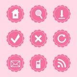 Sistema de iconos del web Foto de archivo libre de regalías