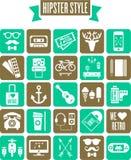 Sistema de iconos del web del estilo del inconformista Imagen de archivo