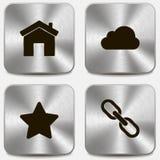 Sistema de iconos del Web en los botones metálicos vol2 Fotografía de archivo libre de regalías