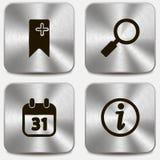 Sistema de iconos del Web en los botones metálicos vol3 Fotos de archivo libres de regalías