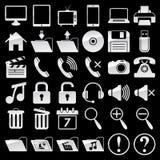 Sistema de iconos del web y de los medios Fotos de archivo libres de regalías