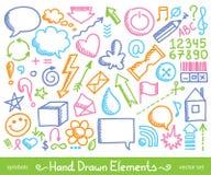 Iconos dibujados mano Foto de archivo libre de regalías