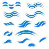 Sistema de iconos dibujados mano de la onda Ilustración del vector Fotos de archivo libres de regalías