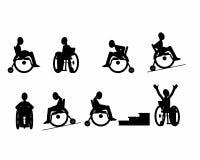 Sistema de iconos discapacitados Imágenes de archivo libres de regalías