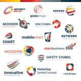 Sistema de iconos diseñados modernos Imagen de archivo libre de regalías