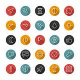 Sistema de iconos finos planos Líneas del estilo Colección del vector Foto de archivo